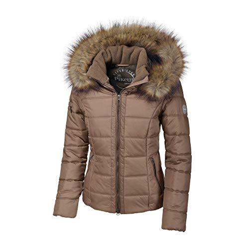 Pikeur Damen Jacke Florentine Classic Collection Herbst-Winter 2019/2020, Walnut/Taupe, 36