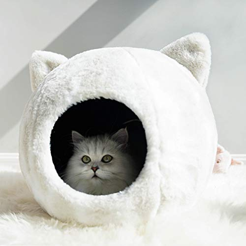 WLDOCA Katzenbett Katzenhöhle Katzenhaus - auch für große Katzen oder kleine Hunde - robust außen und kuschelig weiche Innenseite - Kissen waschbar