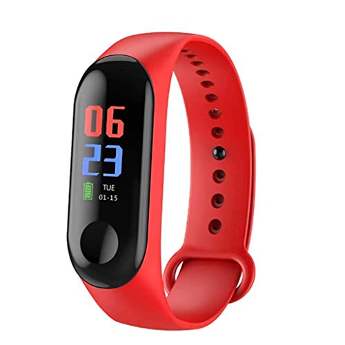 Bracciale Impermeabile Smart Step Color Smart Screen (Color : Rosso)