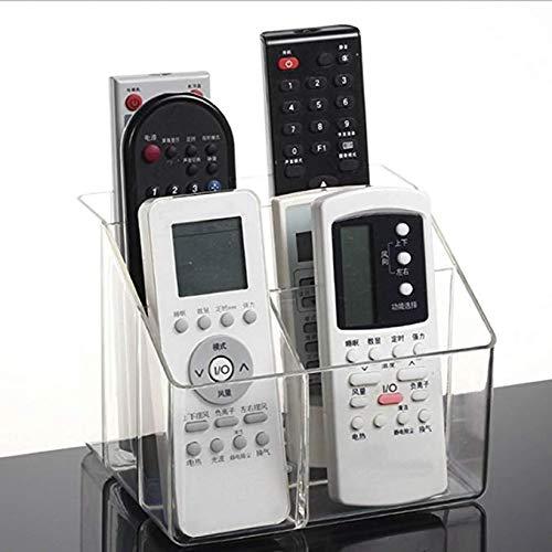 Changlesu Tv-afstandsbediening, houder voor kast, transparant, acryl, voor desktop-afwerking, organizer, opbergdoos, cosmetica, make-upcontainer, 6 vakjes