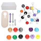 Garosa Kit Modello di Chimica molecolare 445 Pezzi, Modello atomo 194x, Chiave di Collegamento 250x, Strumento di Apertura Chiave 1x, Strumento didattico di Chimica