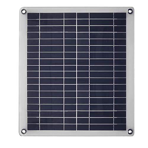 Nicoone Cargador de Panel Solar de 25W 12/ 24V Kit de Fuente de Alimentación de Cargador Solar Portátil para Coche Barco Yate Controlador de Carga Solar Al Aire Libre 50A Opcional