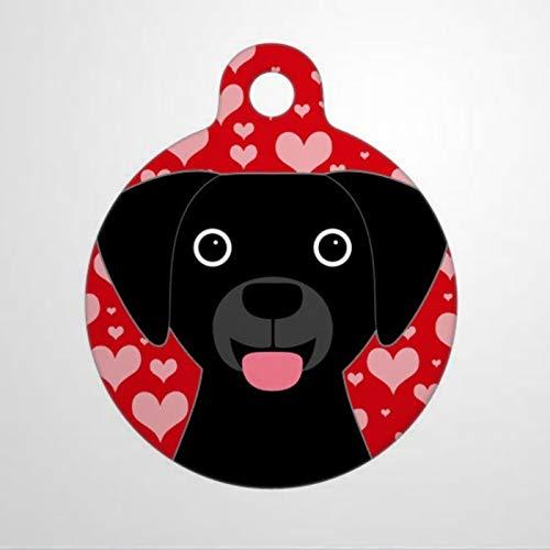 Etiquetas de identificación de mascotas personalizadas para el día de San Valentín, etiqueta de identificación de perro de gato de 1.4 a 1.5 pulgadas y etiqueta de nombre de perro de dos caras.