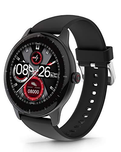 DOOGEE CR1 Smartwatch, Reloj Inteligente Impermeable IP68 para Hombre Mujer Niños con Pulsómetro, Monitor de Sueño, 1.28 Inch Reloj Deportivo 13 Modos para Android iOS, 30 Días en Espera, Negro