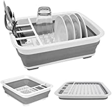 Collapsible Dish Drying Rack Collapsible Drying Rack Portable Dish Drainer Dinnerware Organizer for Kitchen RV Campers Storage Dish Rack (12.5''Wx14.5''L)