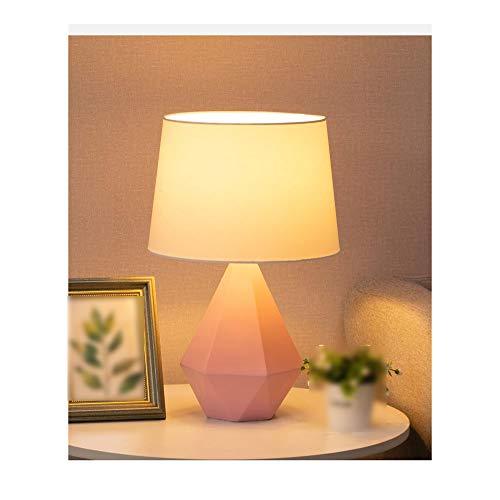 TAYNBYLN Lámpara De Mesa LED,Light Transmisse E27 Lámpara De Escritorio De Luz Cálida Tela TC Pantalla Base Antideslizante,Dormitorio Sala De Estudio Oficina Decorativa