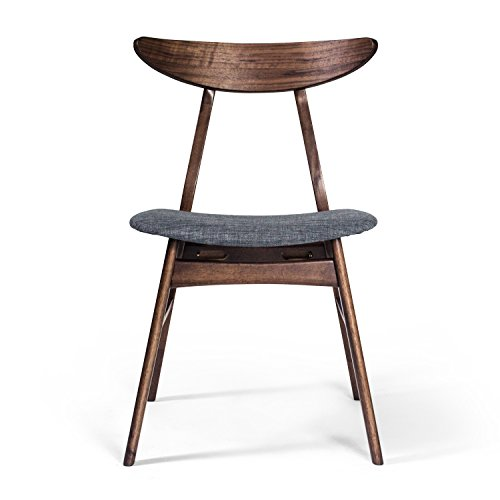 Aeon Furniture Dining Chair in Walnut Finish - Set of 2