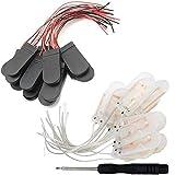 RUNCCI-YUN 20 pzs CR2032 Soporte de bateria - Soporte para Pilas de botón con Interruptor de Encendido/Apagado, 2 Pilas de botón de 3 V, Caja con Pilas de boton para LED+ 1pzs Destornillador