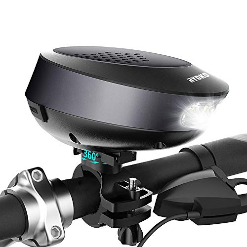 Bike Speaker and Bike Light -2-in-1, RYOKO Wireless Waterproof Bike Speaker with Bicycle Mount for Cycling Camping Bicycle Travel
