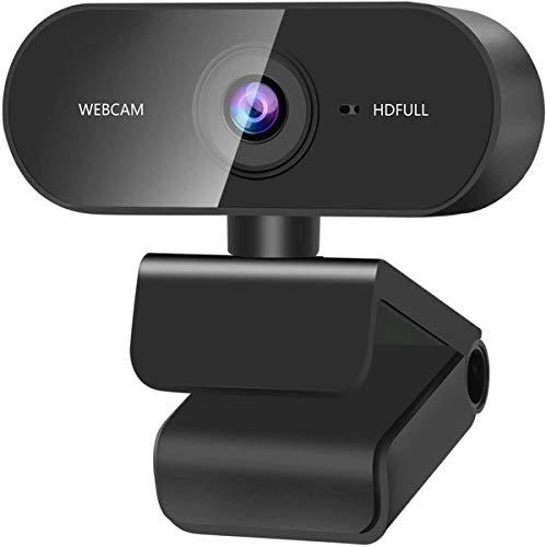 YHX Cámara Web USB HD 1080P con Micrófono, Cámara Web para Computadora Portátil De Escritorio con USB Y Micrófono De Reducción De Ruido Integrado, Plug & Play, para Mac OS, Windows
