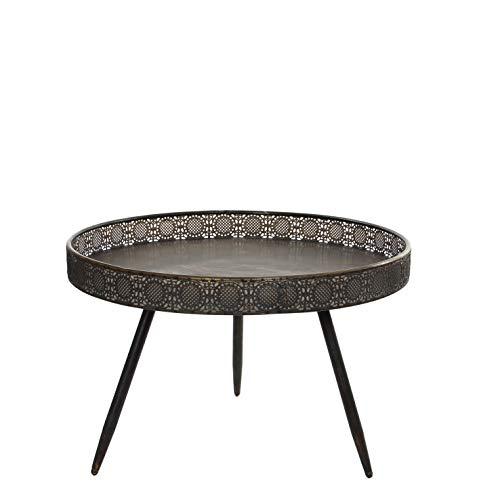 MICA Decorations Lagune Tisch, Metal, Bronze, H 45 cm x D 70 cm