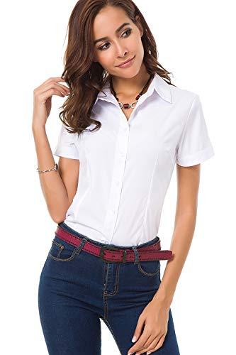 Women Short Sleeve Shirt With Collars