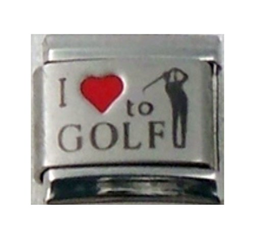 Stylysh Charms Golf I Love Golf RH Laser Italian 9mm Link SP042 Fits Nomination Classic