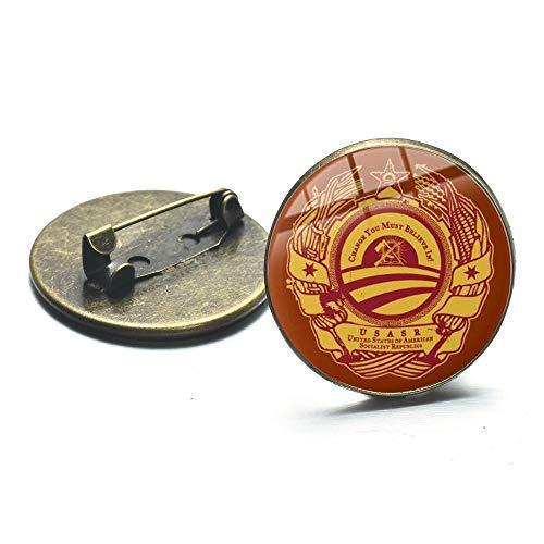 Símbolo de la URSS, estrella roja, martillo de hoz, broche de la Guerra Fría, Cccp soviético, Rusia, icono de la serie, insignia, pines de cúpula de vidrio, colección de recuerdos