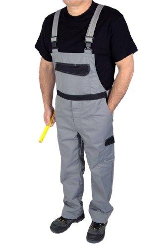IWEA Stabile Heimwerker Arbeits-Latzhose Arbeitshose Arbeitskleidung Grau Gr. 25-102 - IW026, 98