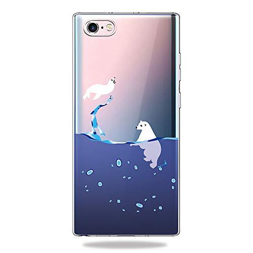 AChris Samsung Galaxy A50 A50S A30S Hülle Silikon Transparent Weiche Stoßfeste Stoßfänger Ultra-Dünn TPU Schutzhülle Hülle Cover Kompatibel mit Samsung Galaxy A50 A50S A30S - Eisbär