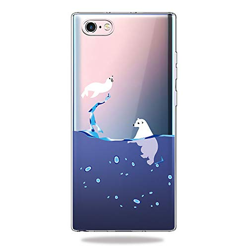 AChris Funda Samsung Galaxy S8 Plus S8+ Transparente con Dibujos Carcasa Silicona Protector TPU Anti-Choque Ultra-Delgado Case con TPU Suave para Samsung Galaxy S8 Plus S8+, Oso Blanco