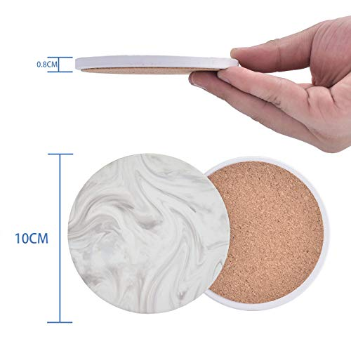 MGUP珪藻土コースター吸水速乾断熱洗える直径100mmホワイト円型2枚