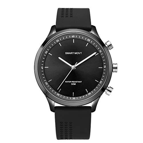NX05 Paar Uhr Smart Armband Wasserdicht Sport Überwachung Kamera Fitness Tracker Blautooth 4.0 Mechanische Nadel Handgelenk Smartwatch (Schwarz)