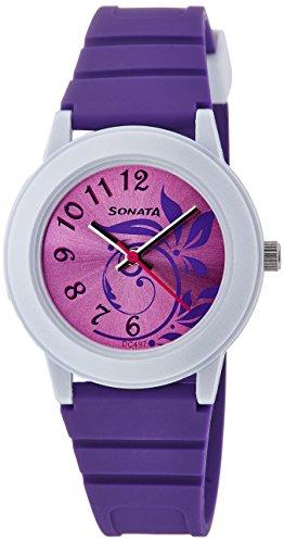 Sonata Analog Purple Dial Women's Watch - NF8992PP03J