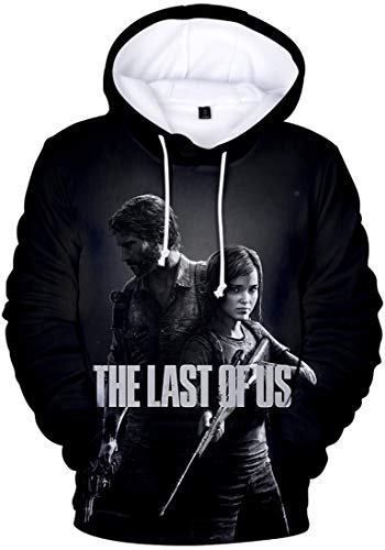 FLYCHEN Homme The Last of Us Part 2 Joel and Ellie Outline Kid's Hooded Sweatshirt The Last of Us Sweat-Shirt À Capuche Sweatshirt (Ellie Joel89, XXS)