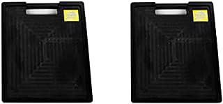 アウトリガープレート(黒) 2枚。厚み50mm×幅300mm×長さ360mm。取っ手付きで持ち運びに便利。アウトリガー使用前に接地面を保護。AR-1350,AR1350 アラオ(ARAO)
