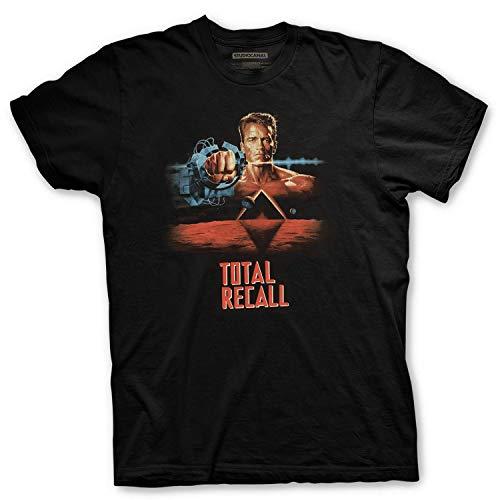 Total Recall Atto di Forza – Studiocanal – T-Shirt Cult des 90er Films – Offizielles Lizenzprodukt, Schwarz XL