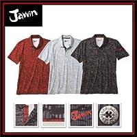 [ジャウィン] 半袖ポロシャツ 55334 ハニカムメッシュ 抗菌 カモフラ 作業服 5L 144:レッドカモフラ