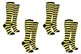 Everything Legwear Rugby Socks Women - Striped Knee High Sport Novelty Socks - Fits Shoe Size: 4-10 (Ladies)...