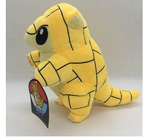 HYSLYQ Juguetes De Peluche Sandshrew Plush Cute Yellow Pangolin Doll Toys Anime Animal Sandslash Soft para Regalo De Niños 30Cm