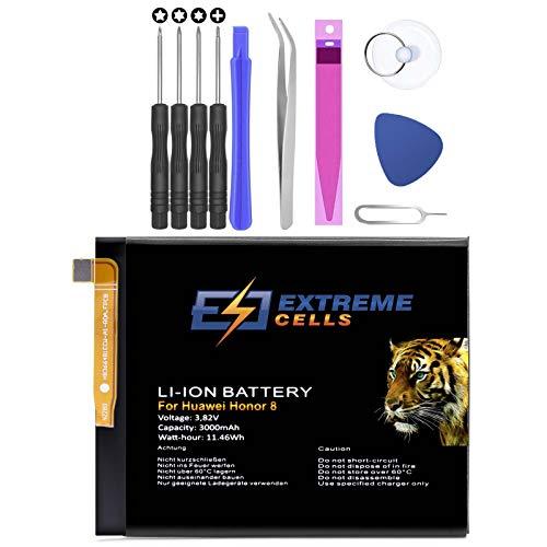 Extremecells Akku für Huawei P8 P9 2017 P10 P20 Lite Batterie Accu HB366481ECW + Werkzeug Set