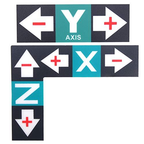 1 set kunststof etiketten stickers graveermachine handleiding sticker XYZ marker handleiding voor graveermachine