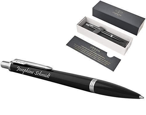 Exklusiver PARKER Kugelschreiber Modell URBAN inkl. Gravur Lasergravur graviert neu (London Cab Black CT)