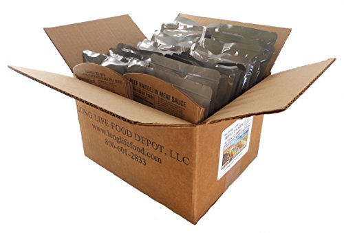 MRE Beef, Chicken & Pork Entrees Combo - 18 pack