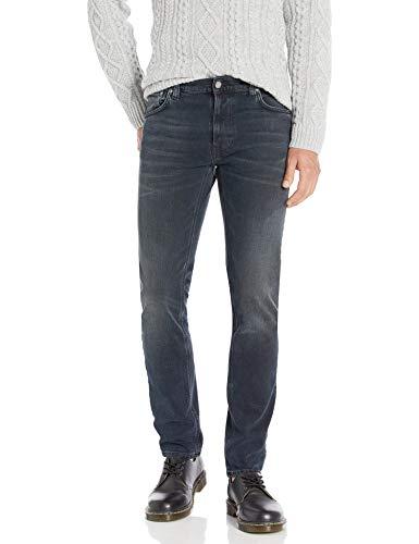 Nudie Jeans Unisex-Erwachsene Thin Finn Blackend Jeans, Blackened Blues, 29W x 30L