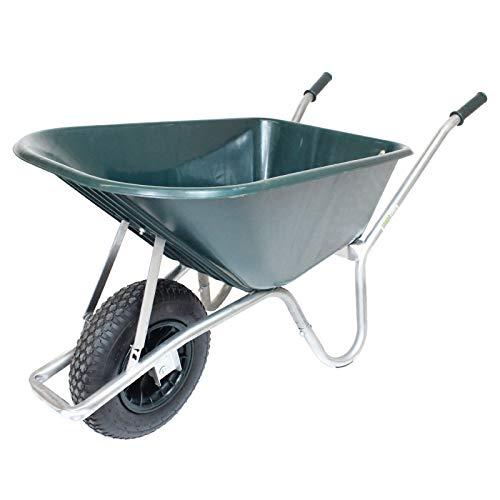 Schubkarre PP 100 l Bau Karre 250kg Gartenschubkarre Bauschubkarre Schiebkarre Garten rostfrei verstärkt stabil hohe Tragkraft