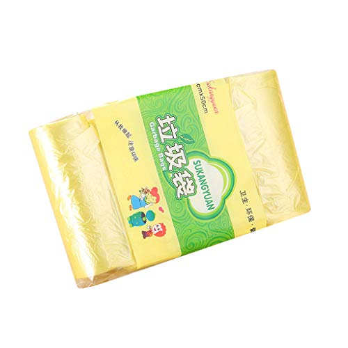 Fineday Trash Bags(5 Rolls) Garbage Bags Colored for Home Bathroom Bedroom Toilet Office, Housekeeping & Organizers, Products for Christmas (Yellow)