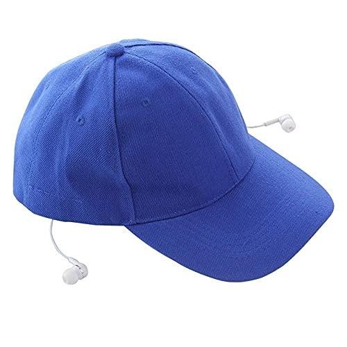 Gorra De Béisbol Música Auricular Hat Hombra Sunhat Sun Sombrero Sombrero Deporte Travel Sombrero Auricular(Color:Azul)