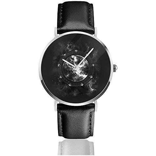 Die Stargate Uhren Quarz Lederuhr mit schwarzem Lederband für Sammlungsgeschenk