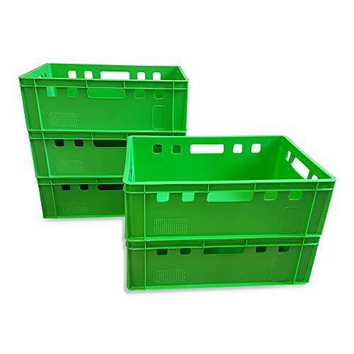 5 Stück E2 Kisten 60x40x20 cm Fleischkiste Lagerkiste Metzgerkiste Eurobox grün