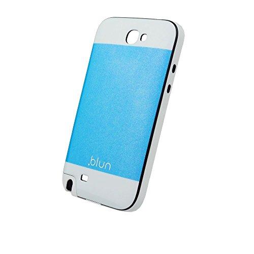 Handy Back Hard Case Cover Schale Blau mit Glitzereffekt für Samsung Galaxy Note 2 Handy Tasche Cover Schutz Hülle Bumper Glitzer Bling