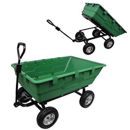 TRUTZHOLM® XXL Profi Gartenwagen 350 Liter 500kg Belastbar Kippmulde Garten Wagen Transportwagen Bollerwagen kippbar Anhänger Handwagen