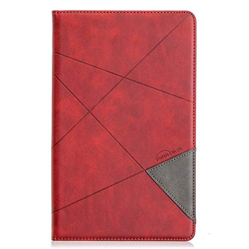 QiuKui Tab Funda para la lengüeta Un 10.1 T510 2019, la Cubierta Protectora de Cuero de Lujo magnética para Samsung Tab A 2019 T515-T515 SM (Color : Red, Talla : Tab a 10.1 T510 T515)