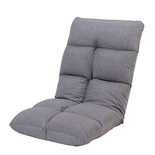 Einstellbare Spielboden Stuhl, leicht faltbar Erwachsener Boden Sofa (Color : Gray)
