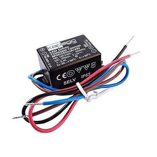 KapegoLED Netzgerät Mini 350mA, 4 W, stromkonstant, 100-240 V AC, 50-60Hz, 3-12 V DC 872026