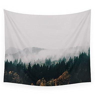 Society6 Forest Fog Wall Tapestry Medium: 68  x 80