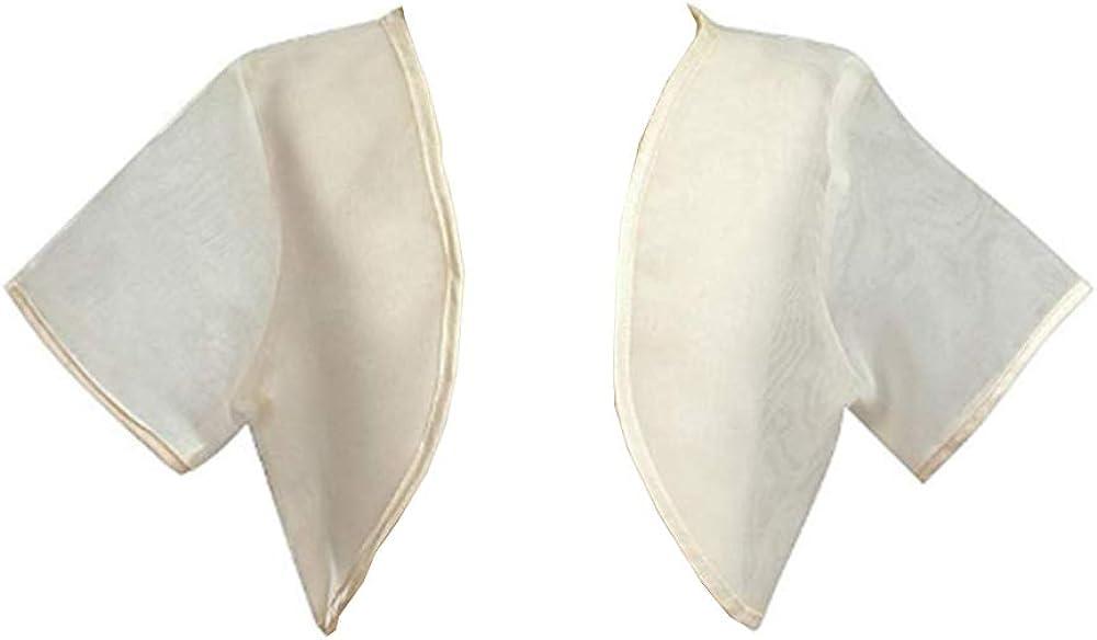 Girl's Ivory Sheer Organza Bolero Jacket - Size XS (3-4)