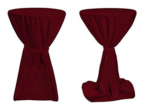 Stehtischhussen Premium für Bistrotisch Tisch-Überzug - Ø 100cm - Farbe: Bordeaux