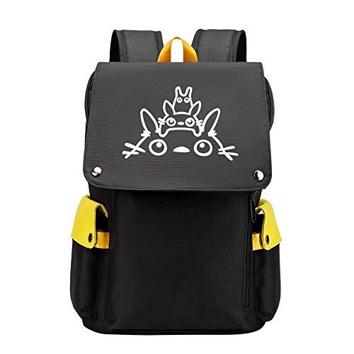 SHU-B Totoro Mochila Portatil Mochila Hombre con Puerto de Carga USB,Mochila Backpack para el Laptop para Ordenador del Negocio -Negro
