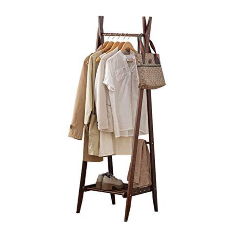JHYMJ Kledingrek inklapbare moderne eenvoud houten vloer kledinghangers Home Multifunctionele kleding opslagrek